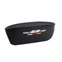 Embroidery for MUGEN emblem Car carbon fiber style seat crevice storage bag honda civic accord gk5 crv jazz accessories