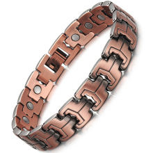 Jewelry European and American Fashion Pure Copper Hand Mens Health Magnet Bracelet Run Shi Red