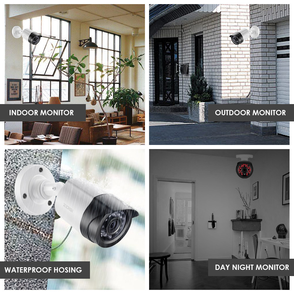 ZOSI 8CH 1080P TVI DVR 2.0MP 1080P CCTV Camera P2P Home Outdoor - Säkerhet och skydd - Foto 4