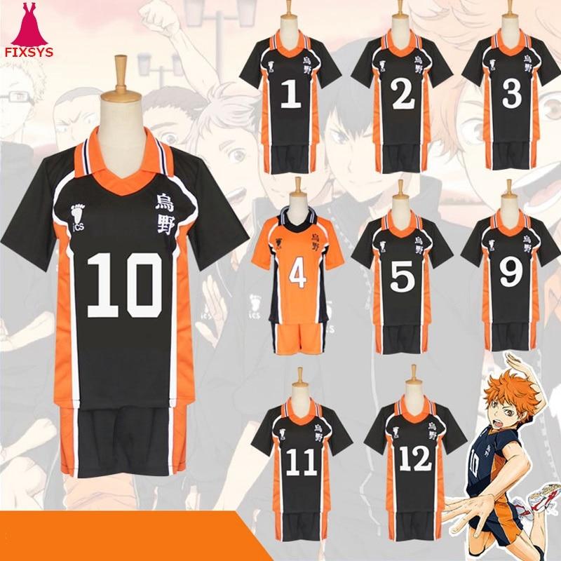 Hot Anime Haikyuu Cosplay Costume Karasuno High School Volleyball Club Hinata Syouyou Kageyama Tobio Sportswear Jerseys Uniform