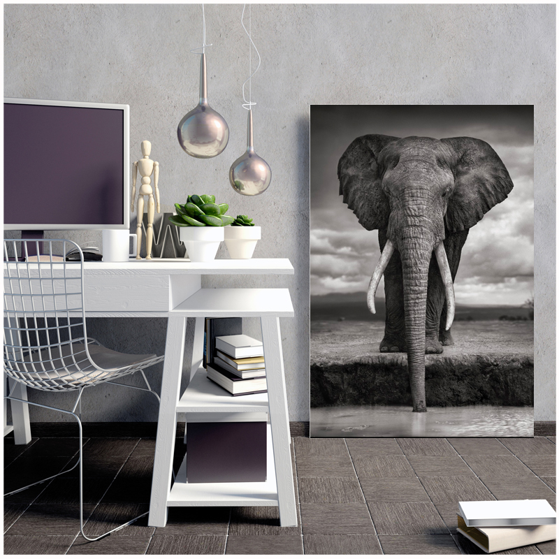 olifant Elephant Canvas painting posters and prints art print portal picture abstract painting naruto kids decoration castelli african elephant