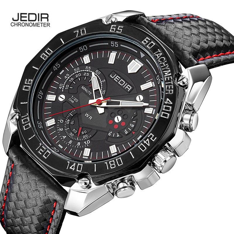 Prix pour Marque De Luxe Jedir Hommes Montres D'affaires Quartz-montre Homme Bracelet En Cuir Montre-Bracelet Horloge Megir Relogio Masculino Relojes Hombre