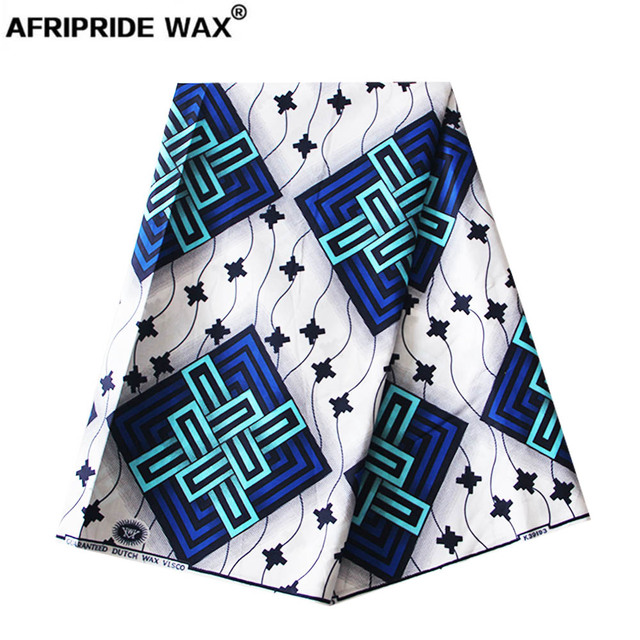 2018 african ankara fabric high quality wholesale  african flower 100% cotton real wax brocade fabric for clothing A18F0276