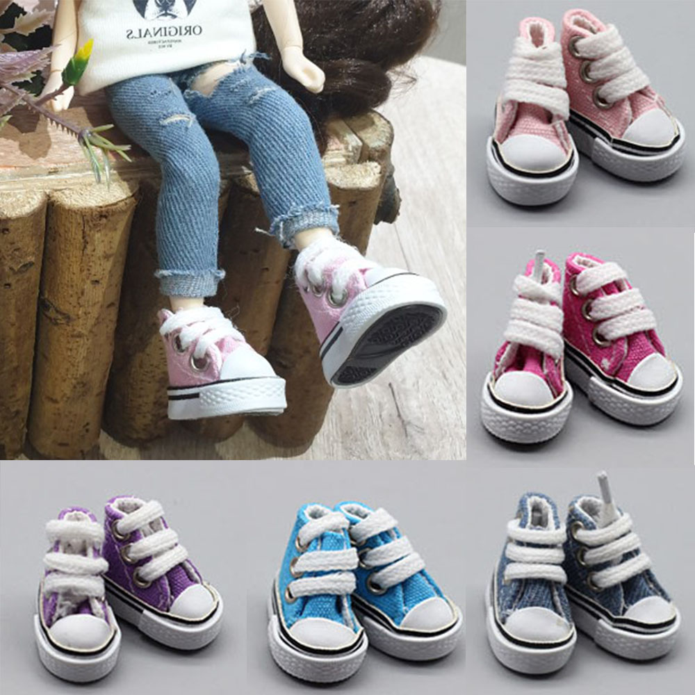 1 Pair 3.5cm Doll Shoes for Blyth Licca Jb Doll Mini Shoes for Russian Doll Sneakers Shoes for 1/6 BJD Doll Doll Accessories image