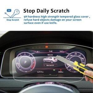 Image 2 - RUIYA Car Screen Protector For Golf 7 12.3 Inch 2018 Digital Cockpit  LCD Dashboard Display Screen Auto Interior Accessories