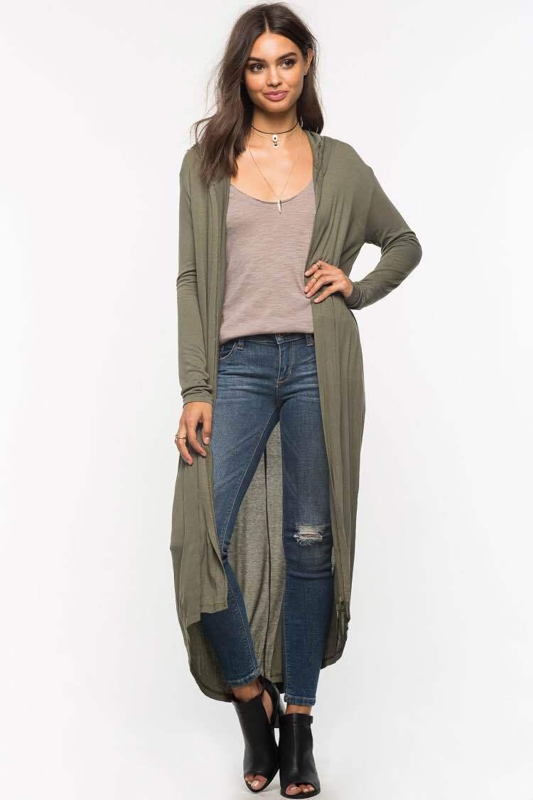 2016 new long sleeve autumn thin cotton long cardigans women's ...