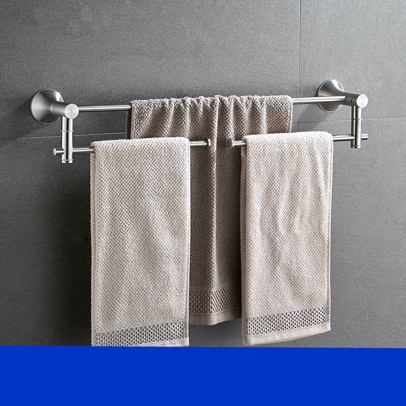 Bathroom Accessories Activity Towel Rack Brushed Silver Towel Bar 304 Stainless Steel Morden Bathroom Hardware Towel Holder white european bathroom accessories stainless steel towel rack paper holder towel bar bathroom hardware package ym010