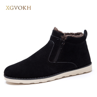 Size 37 45 Autumn Winter Men Warm Snow Boots Casual With Short Plush Ankle Boots Height