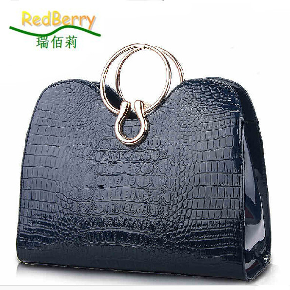 ФОТО 2015 Women Alligator Pattern Tote Fashion Top-handle Bags New Female Handbags Trendy Women Shoulder Bags Elegant Messenger Bags