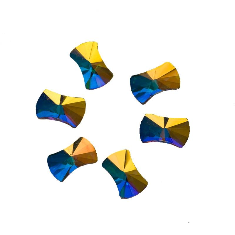 YANRUO 72pcs 5X8mm Crystal AB 3D Pillow Nail art Rhinestone Strass DIY FLAT BACKS WING nail art bolsas decorations