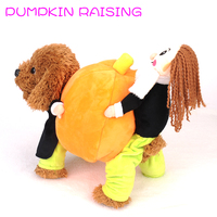 Funny Pet Halloween Chrismas Pumpkin Cosplay Costume Cat Dog Party Dressing Up Clothes Warm Winter Dog Clothing Cat Apparel