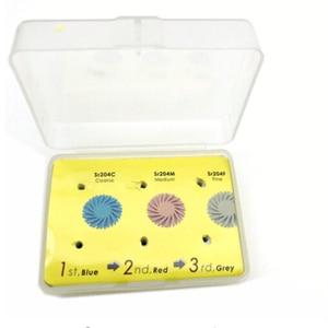 Image 5 - 6 sztuk/zestaw Dental Composite żywica tarcza do polerowania zestaw spirali Flex Brush Burs materiały stomatologiczne wybielanie zębów narzędzie ścierne zestaw