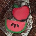 Summer kids messenger bags  2016 Kawaii unisex baby  fruit shoulder bags cartoon watermelon apple coin purses fruit children bag