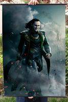 Avengers 1 Loki HD Game Movie Wall Scrolls Poster Bar Cafes Home Decor Banners Hanging