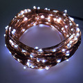 33FT 10M 200 Leds Copper Wire Fairy LED String Light With Power Adapter Xmas String Light Halloween Christmas Wedding Decoration