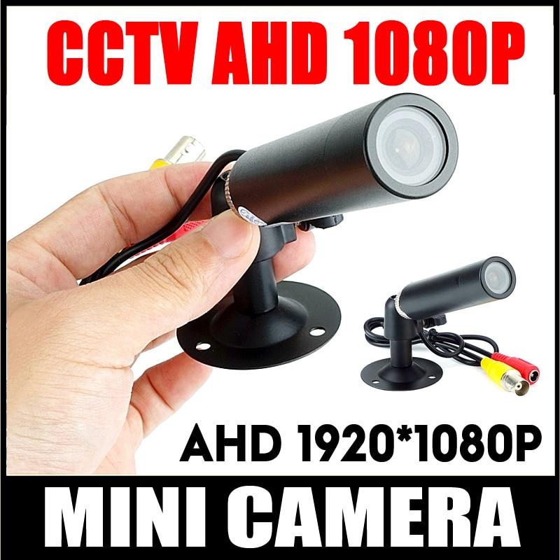 New Mini CCTV CAMERA HD AHD 1080P 2MP Starlight Waterproof Micro Surveillance Small Vandal-proof Black Metal Bullet Security