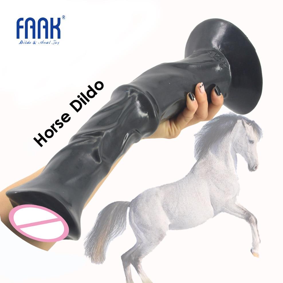 FAAK 13.8 pouce énorme pénis animal cheval gode dick avec forte ventouse nervuré grand sex toys pour femmes flirt produits de sexe chaud