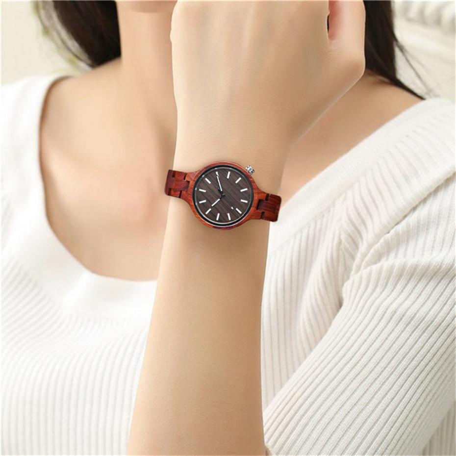YISUYA Fashion Natural Simple Casual Wood Bamboo Wooden QuartzWatches Ladies` Bracelet Clasp Analog Women Gift Clock Relojes (4)