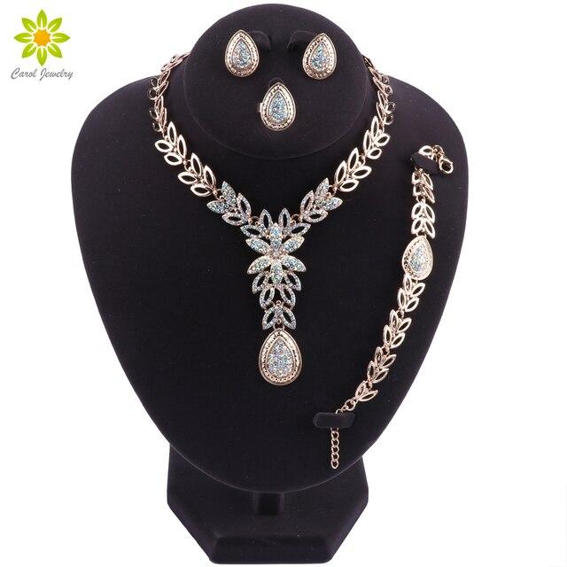 b3ff04d561f6 Dubai conjuntos de joyas para mujeres 2019 cuentas africanas conjunto de  joyas nigerianas boda Color oro
