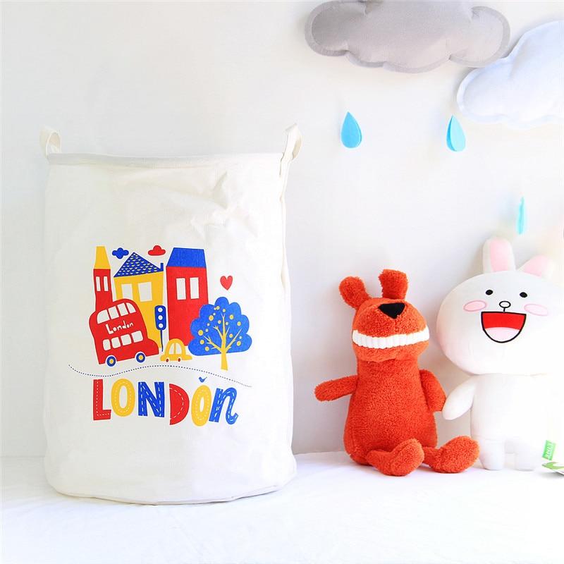 2019 New Wardrobe Kids Organizer Bins Box For Toys: 40x50cm New Laundry Basket Cartoon Unicorn Print Clothes