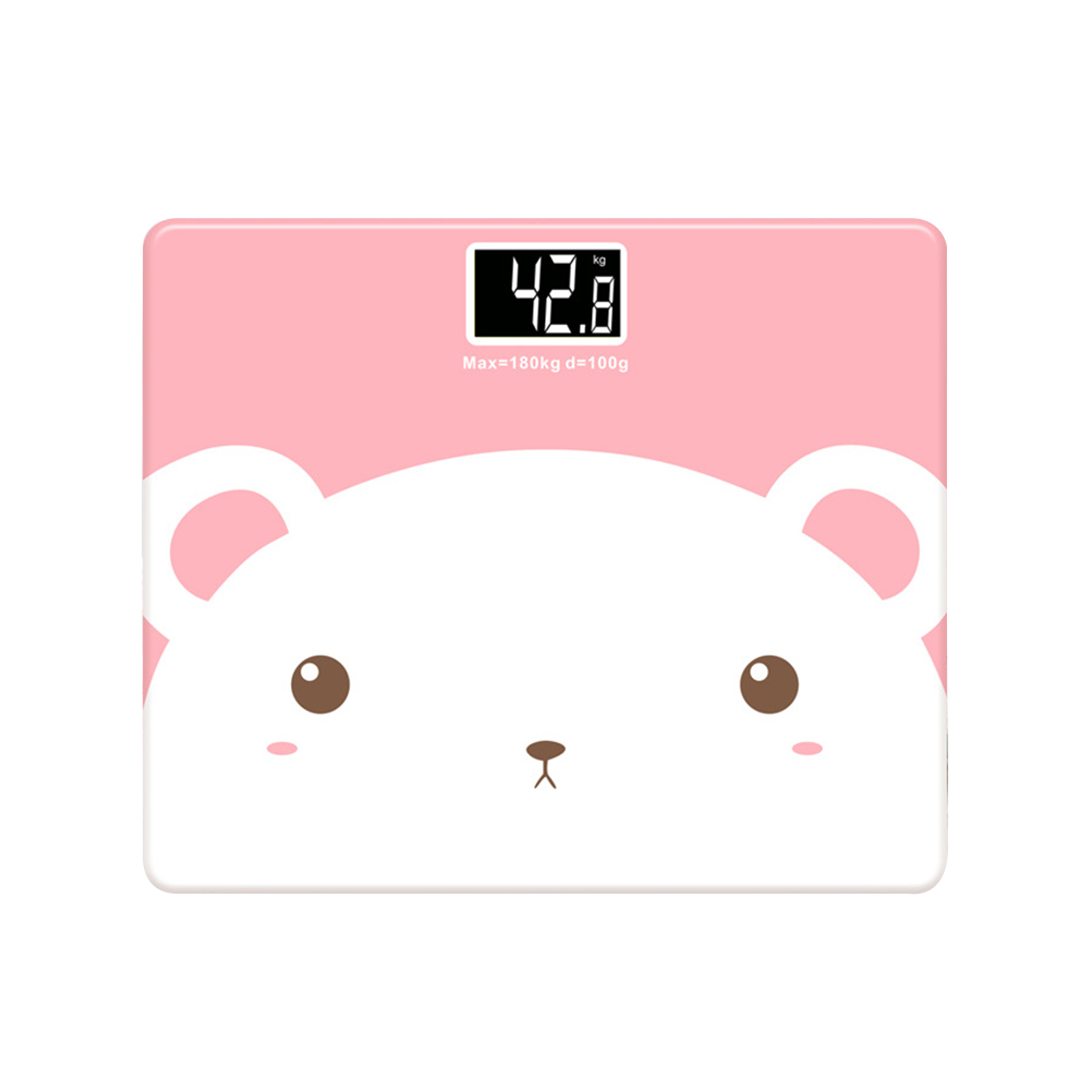 Bear Body Fat Scale with Tempered Glass Cute Animal 180KG /5KG Mini Electronic Weighing Scale Fit for Women Baby Kids Bear Body Fat Scale with Tempered Glass Cute Animal 180KG /5KG Mini Electronic Weighing Scale Fit for Women Baby Kids