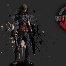Borderlands 5P Cartoon Canvas Poster Maya Game Painting on The Wall Art Modular Picture HD Pictures 40*30cm