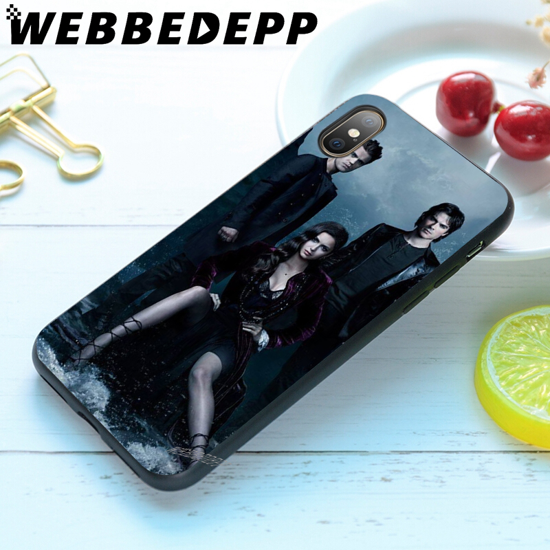 WEBBEDEPP The Vampire Diaries Soft Case for iPhone 5 5S 6 6S 7 8 Plus X XS 11 Pro MAX XR Cover in Fitted Cases from Cellphones Telecommunications