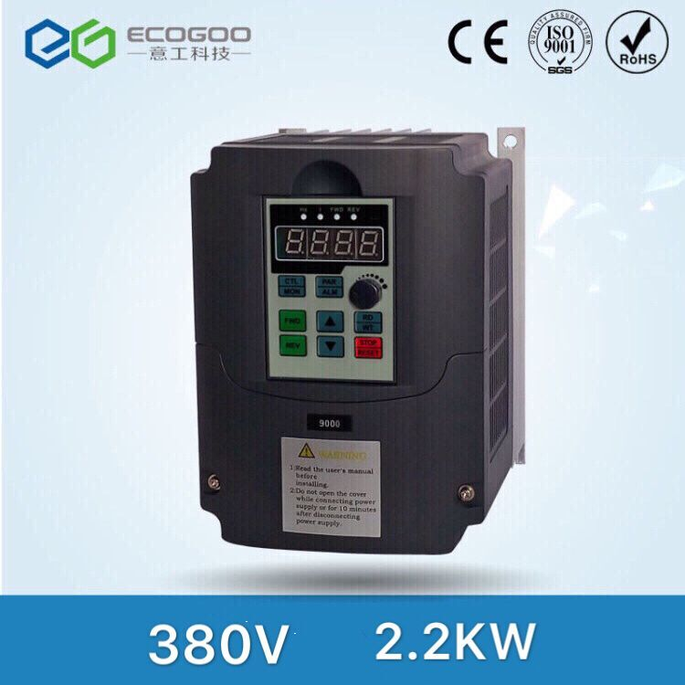 high performance 2.2KW VFD inverter 380V input 1PH output 3PH frequency inverter spindle motor new atv312hu75n4 vfd inverter input 3ph 380v 17a 7 5kw