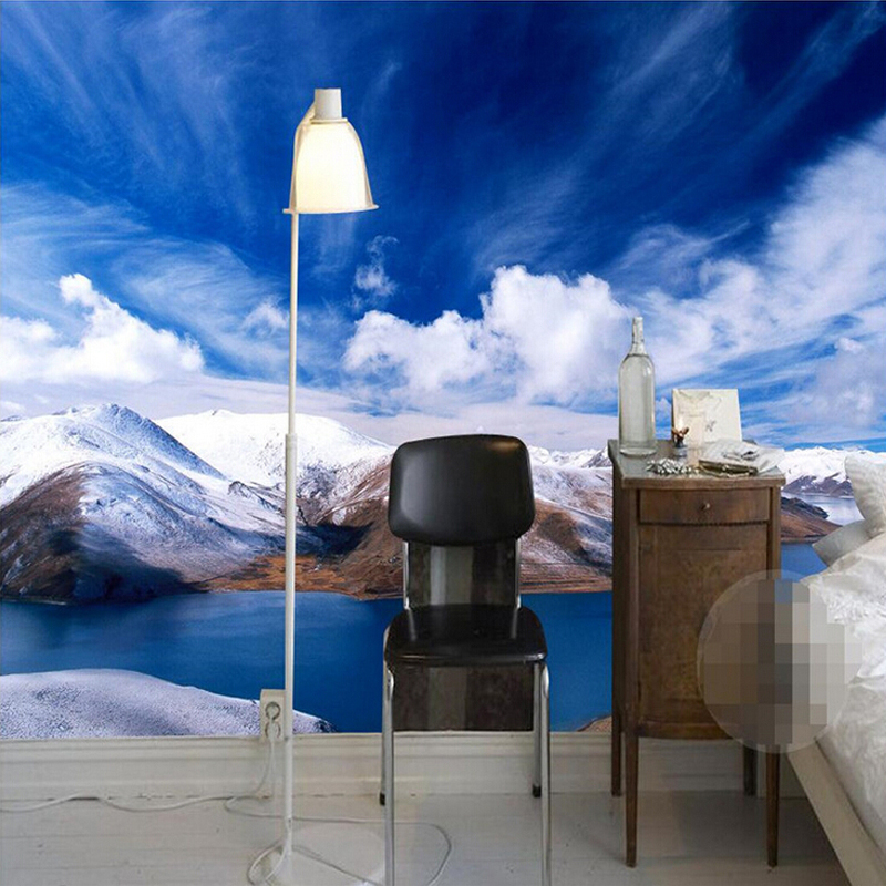 Custom 3D Photo Wallpaper Snow Mountain Nature Landscape Photography Background Wall Painting Mural Wallpapers For Living Room custom baby wallpaper snow white and the seven dwarfs bedroom for the children s room mural backdrop stereoscopic 3d
