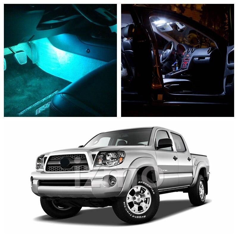 Buy 9pcs ice blue bulbs white led lights - Toyota tacoma led interior lights ...