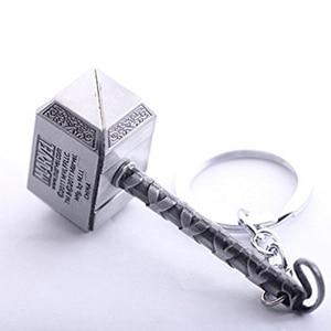 1 шт. мужской ювелирный аксессуар для фанатов Мстители Marvel's Hammer Mjolnir брелок новый оловянный брелок игрушка цепочка Тора кольцо для ключей