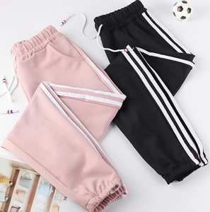 Pants Dance Women Trousers Side-Lines Exercise Loose Female Sports Running Casual NEW