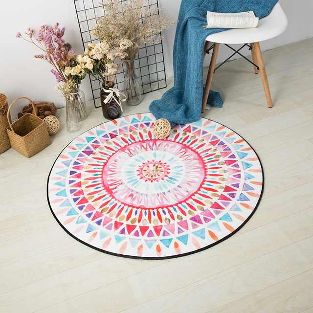 Kids Computer Chair Home Goods Chairs For Sale Round Multicolor Carpet Room Wicker Rattan Mat Simple Carpets Living Decor Tapete Rug