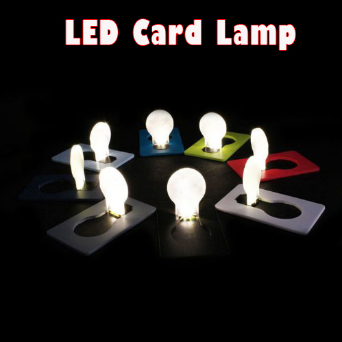 10PCS/Lot Mini LED Credit Card Light & Cerative LED Card lamp & Pocket LED Light For Novelty Gift