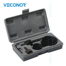 Veconor 19mm-64mm Carbide Drill Bits Wood Drills Tapper Hole Saw Teeth Set Cone Drill Bits Holing Tools For Woodworking
