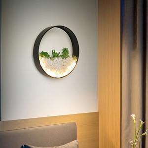 Image 2 - 北欧植物壁ライト創造ベッドサイドの寝室のランプの結婚式ルーム階段リビングルームシンプルでモダンな通路壁ランプ