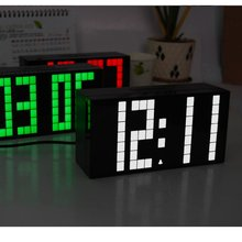 Free Shipping Electronical Big Multifunction LED Clock Digital Clock with Timer Date Thermometer Alarm Clock Christmas