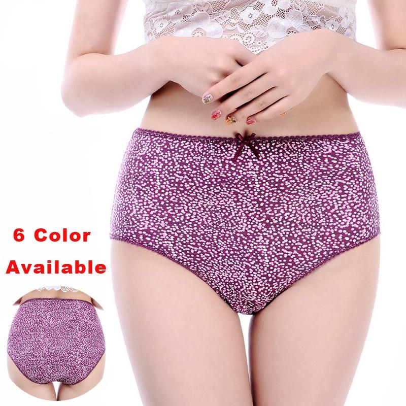 High Waist Panties For Women Plus Size Black Underwear Comfortable Cotton Soft Printing Women's Intimates Lingerie Ladies Panty