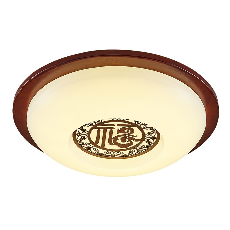 Chinese Style Round Solid Wood LED Ceiling Lights Classical Customs Living Room Bedroom Aisle Light ceiling lamps wl3231613