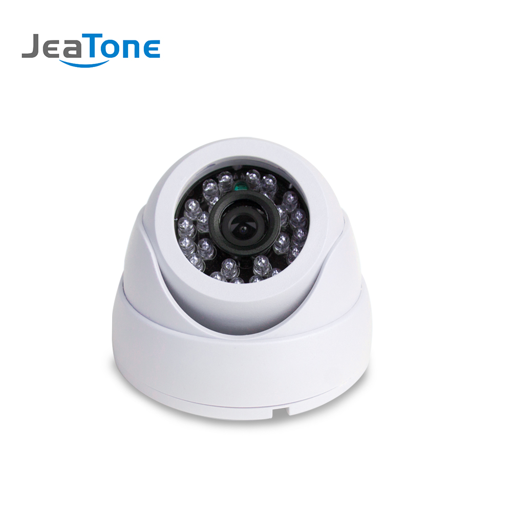 JeaTone 1200TVL Analog Security Dome Camera Video Surveillance Indoor CMOS Camera White Color 15M IR Night Vision hd 1200tvl cmos ir camera dome infrared plastic indoor ir dome cctv camera night vision ir cut analog camera security video cam