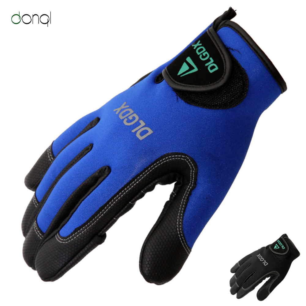 DONQL Fishing Gloves 2 Fingerless Soft and Breathable Gloves For Cycling Climbing Outdoor Sports Fishing Accessories Full FingDONQL Fishing Gloves 2 Fingerless Soft and Breathable Gloves For Cycling Climbing Outdoor Sports Fishing Accessories Full Fing