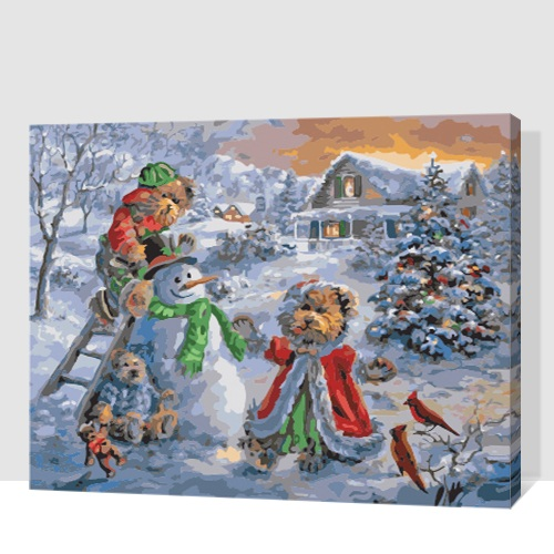 Diy Romantic Christmas Gifts: MaHuaf A1802 Romantic Christmas Gift DIY Painting By