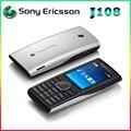 Desbloqueado j108i j108 sony ericsson del teléfono celular mp3 mp4 música 3g teléfonos 2 mpcamera garantía
