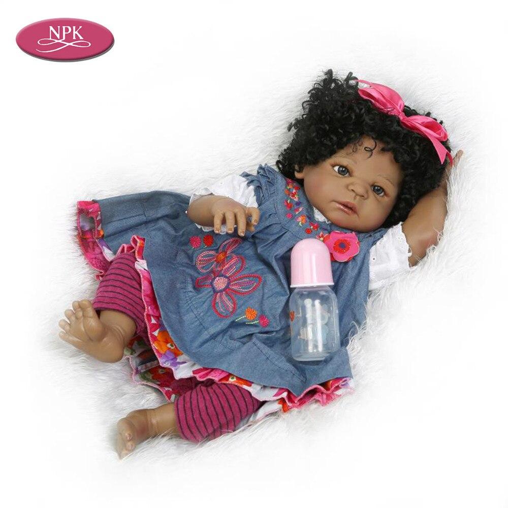NPK 57CM Full Silicone Reborn Girl Baby Doll Toys Lifelike Princess ...