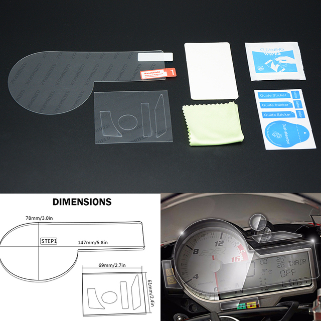 For BMW S1000RR S 1000 RR 1000RR Cluster Scratch Protection Film Screen Protector Dashboard