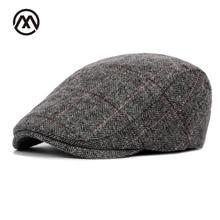 62b95831571e3 2018nuevo Otoño Invierno Boina gorra Unisex para hombre sombrero de algodón  a rayas Boina Inglaterra Retro británico hombres muj.