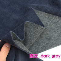 Dark Gray Knitted Cotton Fabric Flannelet Fabric Span Velour Thermal Underwear Hoodies Sold By The Yard