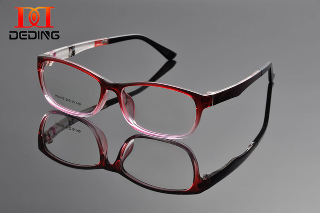 Deding fino TR90 quadro retângulo confortável homens De óculos De mulheres De óculos óptica óculos De Grau De DD1086