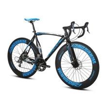 Cyrusher XC700 Racing Road Bike 700Cx54cm Light Aluminum Frame 14 Speeds Pro Sports Mans Road Bicycle Dual Mechanical Disc Brake
