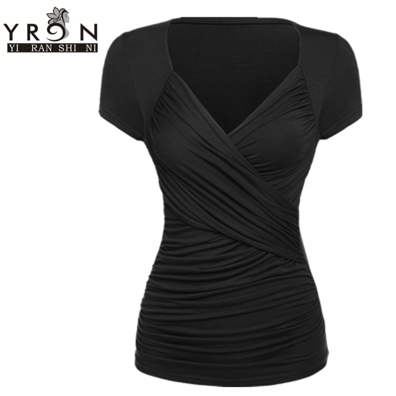 Online buy wholesale black wrap shirt from china black for Wrap style t shirts